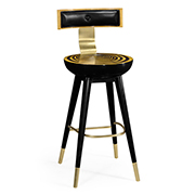 Jonathan Charles Op Art Swivel Bar Stool With Back Support 500085 BS SWB