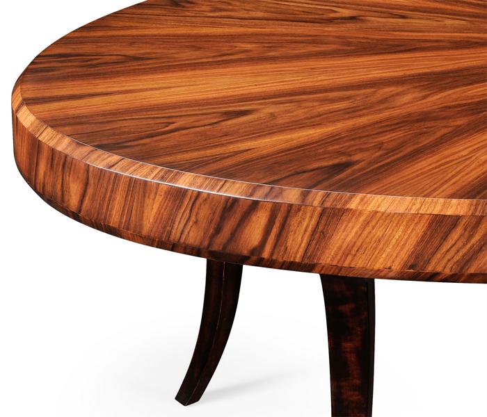 Jonathan Charles Santos Art Deco Oval Coffee Table - Santos coffee table