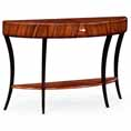 Jonathan Charles Select Collection Santos Art Deco Demilune Large Console Table QS 494015 / 494087 / Jonathan Charles Fine Furniture at Kings always for the best service and prices