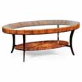 Jonathan Charles Select Collection Santos Art Deco Rosewood and Glass Oval Coffee Table QS 494138 / 494138 / Jonathan Charles Fine Furniture at Kings always for the best service and prices