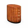 Jonathan Charles Select Collection Santos Art Deco Oval Chest of Drawers ST 494169 / 494169 / Jonathan Charles Fine Furniture at Kings always for the best service and prices