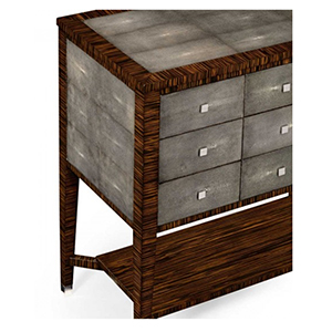 Jonathan Charles Metropolitan Anthracite Shagreen Chest of Nine Drawers 494362 / Jonathan Charles Fine Furniture at Kings always for the best service and prices