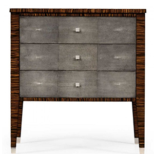 Jonathan Charles Metropolitan Anthracite Shagreen Bedside Chest 494365 / Jonathan Charles Fine Furniture at Kings always for the best service and prices