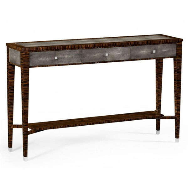 Jonathan Charles Metropolitan Anthracite Shagreen Console Table 494366 /  Jonathan Charles Fine Furniture At Kings Always