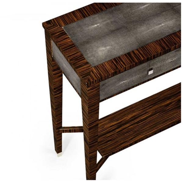 Attirant Jonathan Charles Metropolitan Anthracite Shagreen Console Table 494366 / Jonathan  Charles Fine Furniture At Kings Always