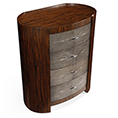 Jonathan Charles Select Collection Metropolitan Anthracite Oval Bedside Chest of Drawers ST 494404 / 494405 / 494406 / Jonathan Charles Fine Furniture at Kings always for the best service and prices