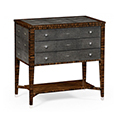 Jonathan Charles Metropolitan Black Shagreen Three Drawer Chest 494626 / Jonathan Charles Fine Furniture at Kings always for the best service and prices