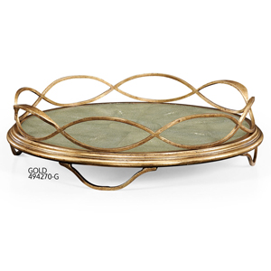 Jonathan Charles Shagreen Circular Tray / Jonathan Charles Fine Furniture at Kings for luxury furniture online and in store