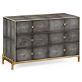 Jonathan Charles Shagreen Large Low Four Drawer Chest / Jonathan Charles Fine Art Deco Furniture at Kings for luxury furniture online and in store