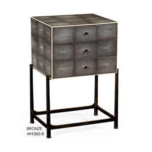 Jonathan Charles Shagreen Small High Chest / Side Cabinet / Jonathan Charles Fine Art Deco Furniture at Kings for luxury furniture online and in store
