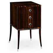 Jonathan Charles Soho Collection Macassar And Ebony Bedside Chest With White Brass Details 495175 AMA