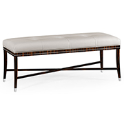 Jonathan Charles Soho Collection Macassar And Ebony Bench In White Leather 495188 AMA