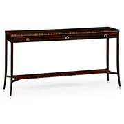 Jonathan Charles Soho Collection Macassar And Ebony Console Table With White Brass Details 495174 AMA