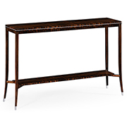 Jonathan Charles Soho Collection Macassar And Ebony Narrow Console Table With White Brass Details 495186 AMA