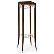 Jonathan Charles Soho Collection Macassar And Ebony Torchere With White Brass Details 495168
