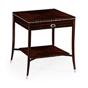 Jonathan Charles Soho Collection Macassar Ebony End Table With White Brass Details 495167 AMA