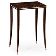 Jonathan Charles Soho Collection Macassar Ebony Lamp Table With White Brass Detail 495150