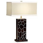 Jonathan Charles Soho Collection Macassar And Ebony Table Lamp With White Brass Detail 495194