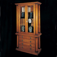 REH Kennedy Classic Solid Cherrywood Glass Display Cabinet With Draws 5003