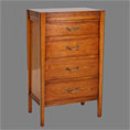 REH Kennedy Deco Cherry Four Draw Cabinet