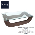 Lychee Aspen Coffee Table in Light and Dark Elm at Kings always for the best prices and service