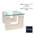 Lychee Aspen Lamp Table in Light and Dark Elm at Kings always for the best prices and service