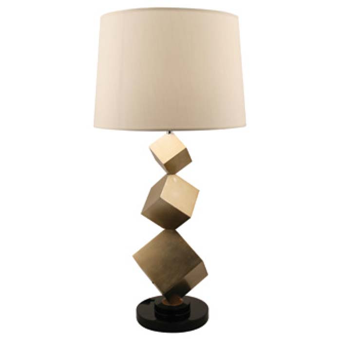 sc 1 st  Kings Interiors & R V Astley Bronze Cube Table Lamp 5129 azcodes.com