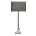 R V Astley Darcey Nickel and Glass Table Lamp 5549