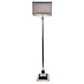 RV Astley Krista Black & Nickel Floor Lamp 5546