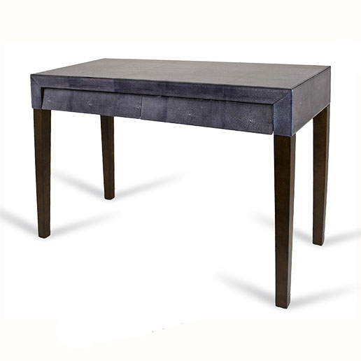 R V Astley 1950 Dark Grey Slanted Drawer Console Table 8003