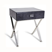 R V Astley Dark Grey Sienna Range Side Table 8999