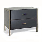 R V Astley Ettore Range 2 Drawer Large Bedside Table 8211