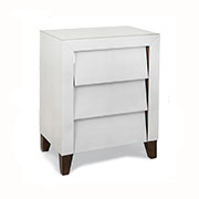 R V Astley Iced Ivory Shagreen Slanted Drawer Side Table 8096A