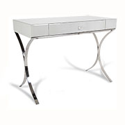 R V Astley Iced Ivory Shagreen Sovana Dressing Table 8073