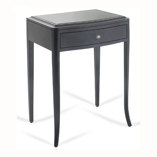 R V Astley Maxton Black 1 Drawer Bedside Table 2254