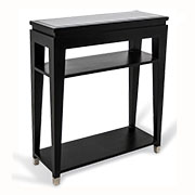 R V Astley Modena Black Chrome Console Table DFM09
