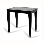 R V Astley Modena Black and Chrome Pedestal Table DFM11B