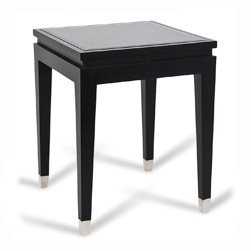 R V Astley Modena Black and Chrome Side Table DFM12