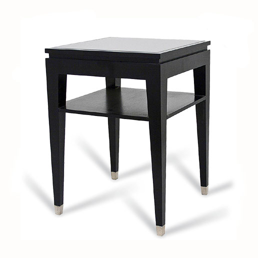 R V Astley Modena Black and Chrome Sofa Table DFM13