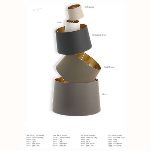 Gold Lined Lamp Shades