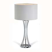 R V Astley Amara Nickel Table Lamp 5740 ( Including Shade )