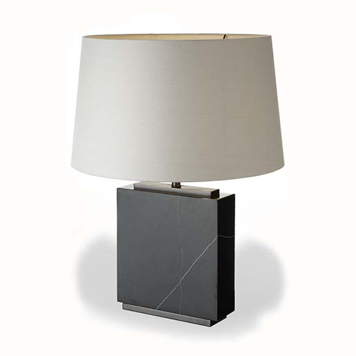 R V Astley Black Marble Table Lamp 50182 ( Including Shade )