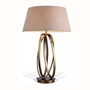 R V Astley Brisa Antique Brass Table Lamp 5577 ( Including Shade )