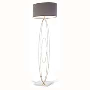 RV Astley Oval Rings Nickel Floor Lamp 5141 ( Including Shade )