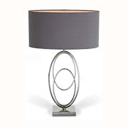 R V Astley Oval Rings Nickel Table Lamp 5140 ( Including Shade )