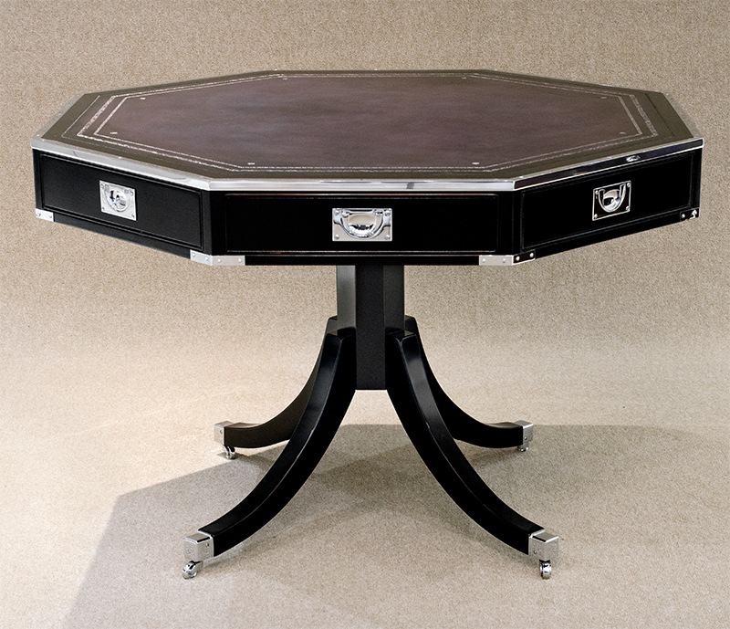 REH Kennedy Military Octagonal Table 4196.