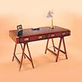 REH Kennedy Military Trestle Writing Table 4112