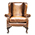 Contrast Upholstery Chaucer Wing Chair 3