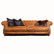 Tetrad Upholstery Grand Madison Chesterfield in Ralph Lauren Signature Texas Ranch Hide