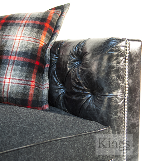 Tetrad Ralph Lauren Empire Sofa with Chrome Studs